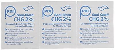 PDI UNXP00220 Sani-Cloth Chg 2% Wipes 200Mmx128M m 50Gs m White 100 Sachets/Box (Pack of 100) from Shermond