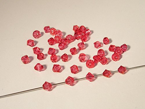 50 Swarovski® Perlen, Bicone,indian pink, 4 mm, SW75