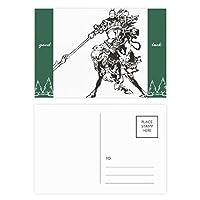 中国の傑作ロマンス グッドラック・ポストカードセットのカードを郵送側20個