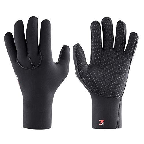 Osprey 3 mm Neoprene Adult Wetsuit Gloves - Super Stretch Scuba Diving Watersport Kayaking Gloves, Black, Small