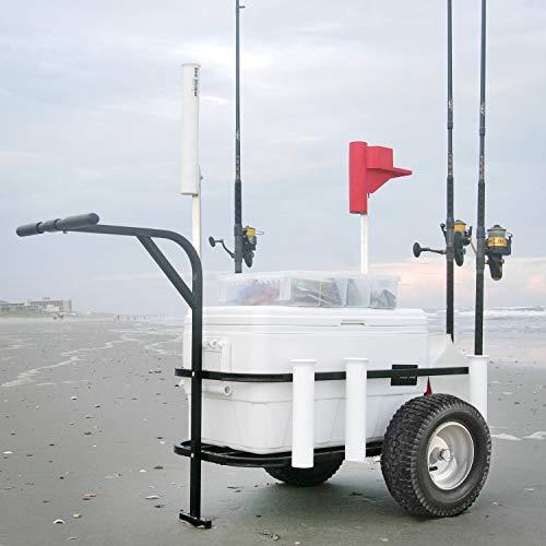 Sea Striker BRSC-DLX Beach Runner Deluxe Fishing Cart with Pneumatic Wheels