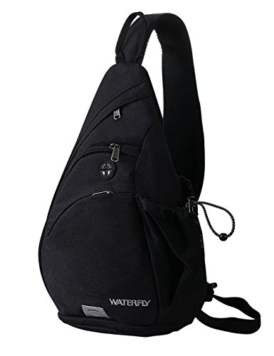 WATERFLY Sling Bag Crossbody Backpack Schulterrucksack mit verstellbarem Schultergurt...