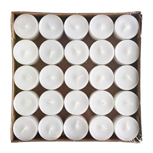 Kölle Teelichter - weiß, mit transparenter Kunststoffhülle - 50 Stück - Ø 38 mm Teelichter