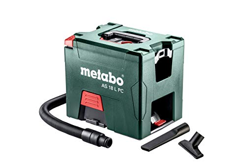 Metabo Akku-Sauger AS 18 L PC (602021000) mit manueller Filterreinigung Karton 18V 2x5.2Ah Li-Ion + ASC 55