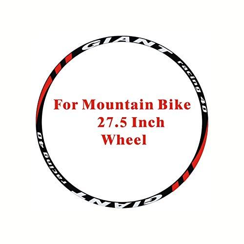 SHAYC 24pics= 2Wheels/set Mountain Bike wheel Stickers Decals MTB 26'' 27.5'' 29er Wheel Stickers Wheel Decorative Stickers (Color : 27.5 inch wheel)