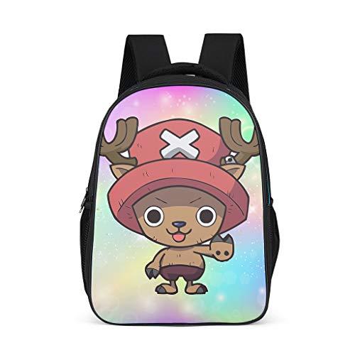 Schulrucksack One Piece Chopper Sternenhimmel Schultasche Schulranzen Daypack Rucksack Backpack Kinderrucksack Freizeitrucksack für Jungen Mädchen Bunt 32x18x42 cm