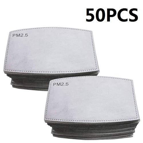 Guarnizione antiappannamento diserbo PM2.5 elemento filtrante protezione carbone attivo protezione antinquinamento antiappannamento 50 PZ