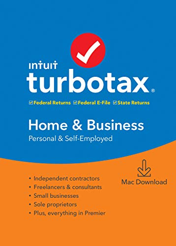 [Old Version] TurboTax Home & Business + State 2019 Tax Software [Mac Download]