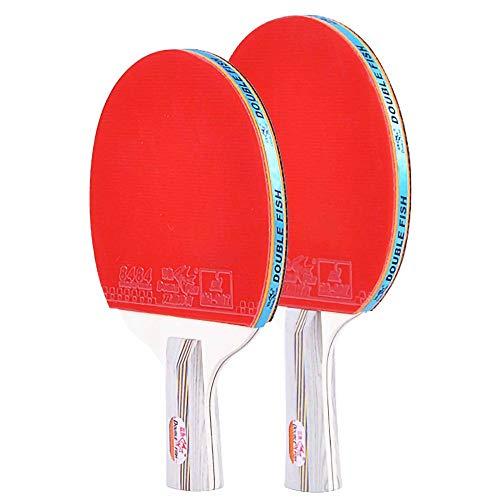 Lerten Palas de Ping Pong,Bate de Tenis de Mesa con Bolsa de Transporte Raquetas de Entrenamiento Profesional de 4 Estrellas,para Juegos en Interiores Y Exteriores/rojo/A