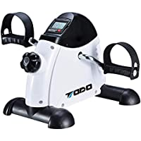 TODO Exercise Bike Pedal Exerciser Foot Peddler Portable Therapy Bicycle with Digital Monitor (White)