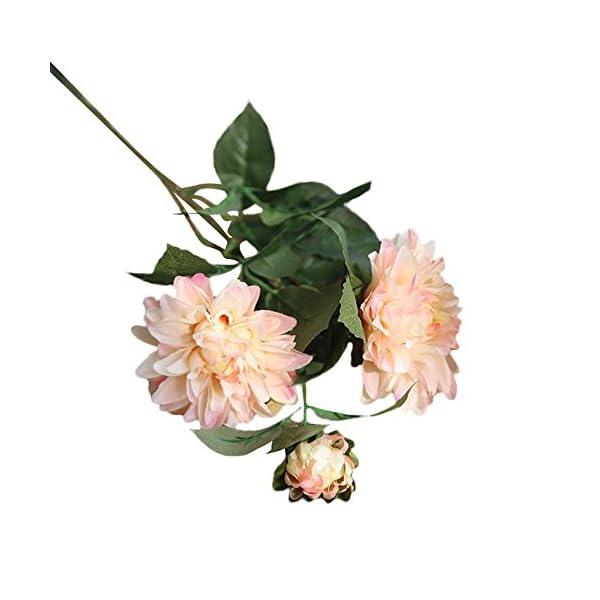 OVINEE Seda Artificial Falsa Flor Dalia Floral Boda Bouquet Nupcial Hortensia Decoración (B)
