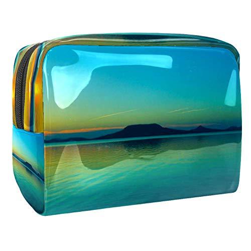 Sunset Retro Wave Digital Art Pattern Maquillage Portable Cosmétique Sac de Maquillage Outil de Rangement pour Voyage Femmes Hommes Multicolore Couleur 4 18.5x7.5x13cm/7.3x3x5.1in