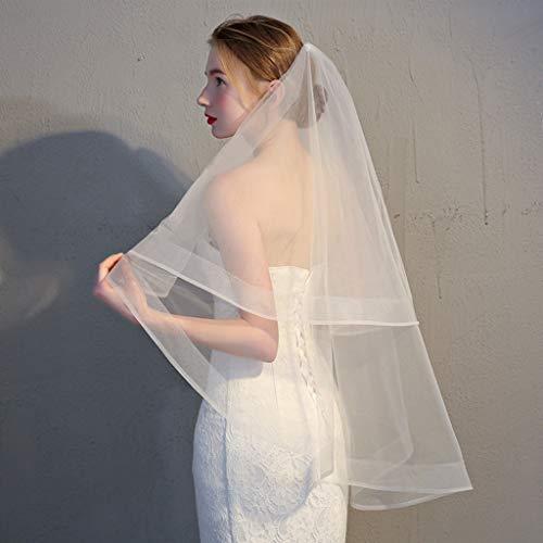 SimpleLife Tüll Brautkleid Schleier mit Kamm Braut Fee Ehe Zubehör