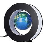 Magnetic Levitation Floating Globe - Electronic Round Globe - with LED Light - Rotating Levitating Globes - World Map - Home Office Decoration - Educational Gifts for Kids(Blue US Plug)