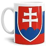 Tassendruck Flaggen-Tasse Slowakei - Kaffeetasse/Mug/Cup - Qualität Made in Germany