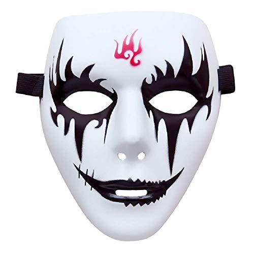 KIRALOVE Maske - hip hop - Street Dance - Jabbawockeez - Ghost - kiss - Joker - Pierrot - weiß - kostüm - verkleidung - Karneval - Halloween - Mann - Frau - Model 2 Joker
