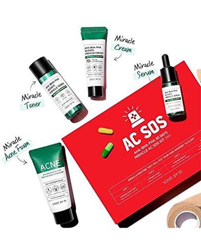 SOME BY MI Aha.Bha.Pha 30Days Miracle AC SOS 4 Pcs Set (Toner 30ml+Serum 10ml+Cream 20g+Cleansing Foam 30ml)