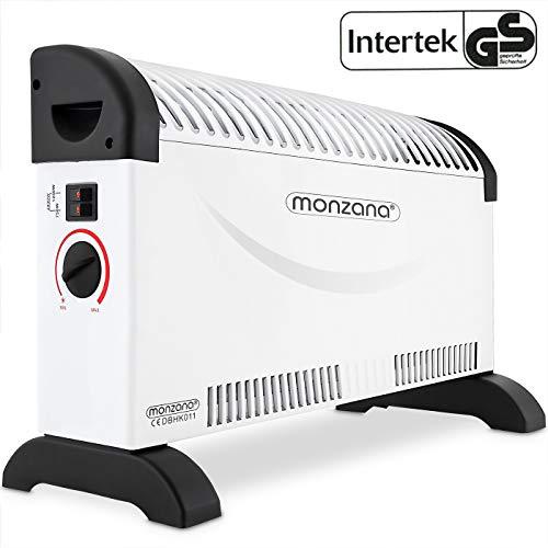monzana Konvektor Elektroheizer 2000 W 3 Heizstufen elektrisch Thermostat Elektro Heizer Heizgerät Heizung