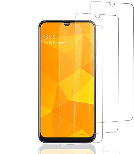 POOPHUNS 3 Unidades Vidrio Templado Samsung Galaxy A50, Protector Pantalla Samsung Galaxy A50 [Funda Compatible] Cristal Templado con [Anti-Huella/Anti-Burbujas] [Premium 9H Definición]