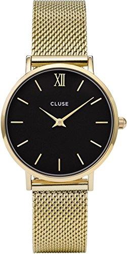 Cluse Reloj Analógico Automático para Mujer con Correa de Cuero – CL30012