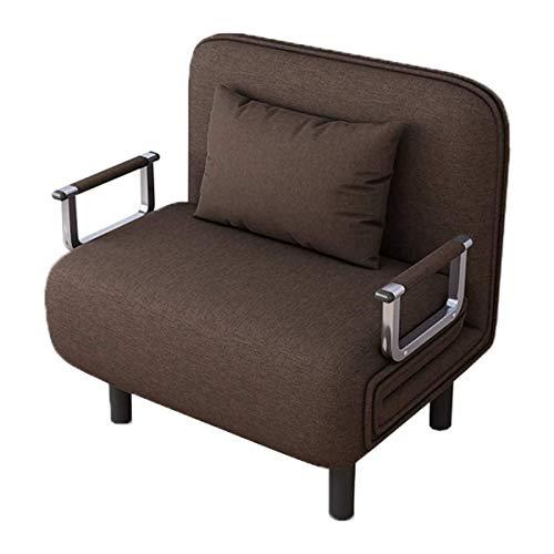 N/Z Home Equipment Klapp Lazy Sofa Boden Stuhl Sofa Sleeper Liege Bett Liegestuhl mit Armlehnen und einem Kissen Liege Bett Chaiselongue Bequemes Leinensofa für Wohnzimmer Home Balkon Blau