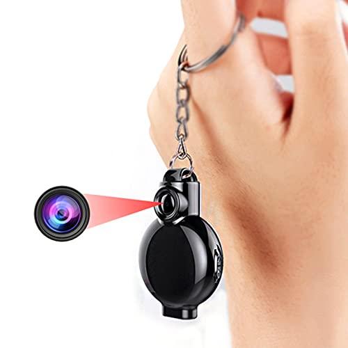 RNNTK Spy Camera 1080P Llévelo con Usted Cámara Grabación Mini Camara,Recargable Usable Grabar con Un Bucle Mini Spy Camera,Pequeño Grabación con Un Solo Clic Vídeo Cámara Espía Oculta-Negro 8 GB