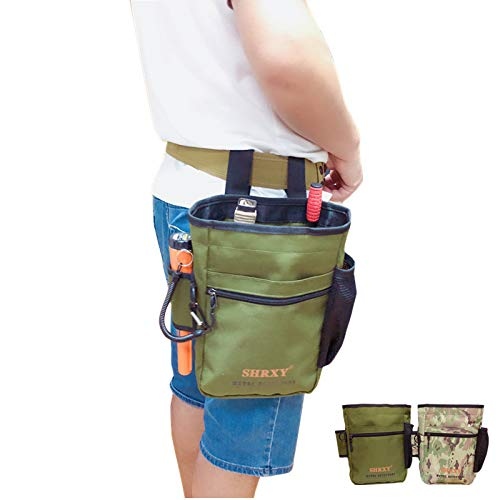 Super detesir Pointer Metal Detector Find Bag Detecting Digger Tools Bag Waist Pack Pouch for PinPointer Garrett Xp ProPointer -ArmyGreen