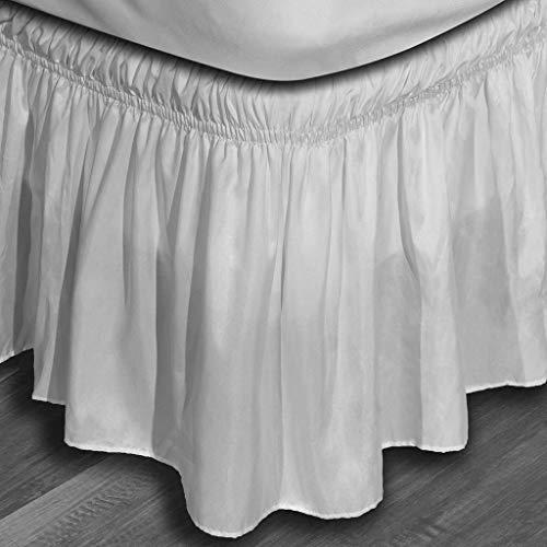 Duck River Textiles Waldorf Microfiber Bed Ruffle Skirt, White, Twin/Full