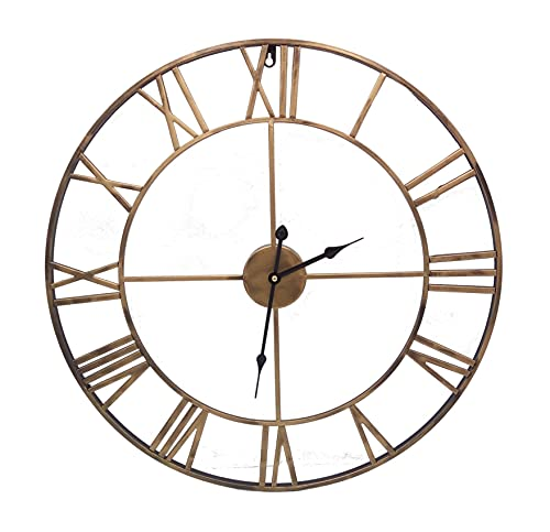 Reloj de pared (metal, 60 cm, bronce)