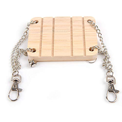 Fliyeong Premium Qualität Hamster Käfig Hängen Dekor Holz Mäuse Eichhörnchen Schaukel Spielen Spielzeug