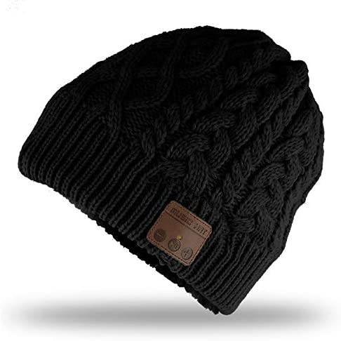 Fashionlive Wireless Music Hat Beanie Wireless 5 0 Headphones Headset Women Men Winter Music product image