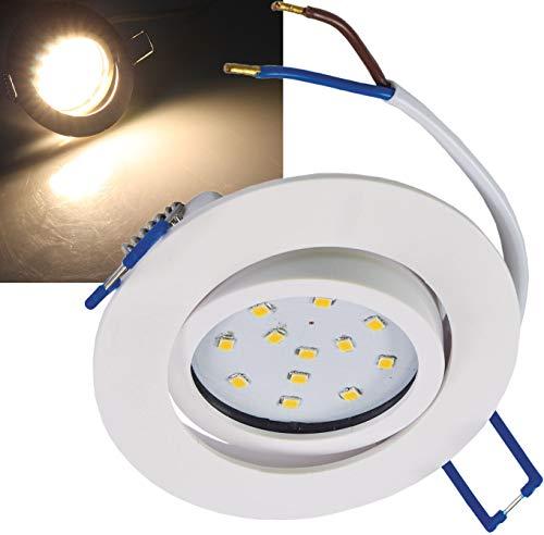 ChiliTec Foco LED empotrable para techo (5 W, 500 lúmenes, luz blanca cálida), 1 unidad