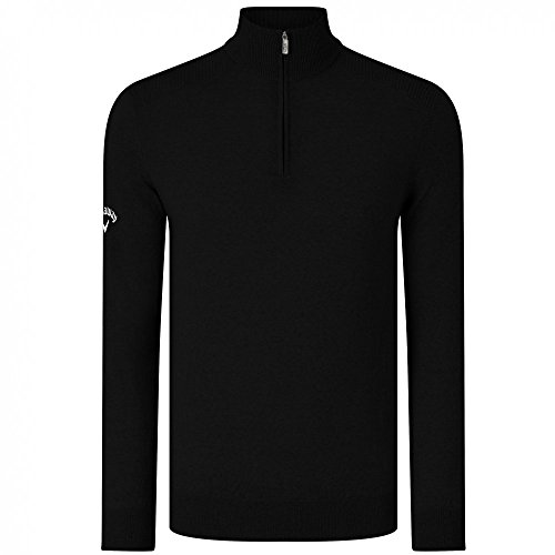 Callaway Ribbed Merino 1/4 Zip Sweater