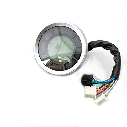 WANGXINQUAN 12000rpm 199 kmh Universal LCD Digital odómetro del velocímetro del odómetro tacómetro Cilindros Engranaje del tacómetro de medidores de Viaje (Color : No Sensor, Size : Gratis)