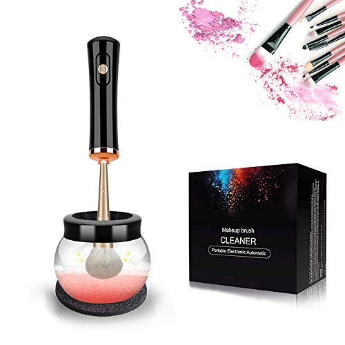 Make-Up Pinselreiniger und Trockner,Elektrischer Makeup Pinselreiniger,Automatischer Make-Up Pinsel Reiniger Spinner,Schnelle und Tiefe Reinigungsmaschine,Geschenk für Frauen (Schwarz)