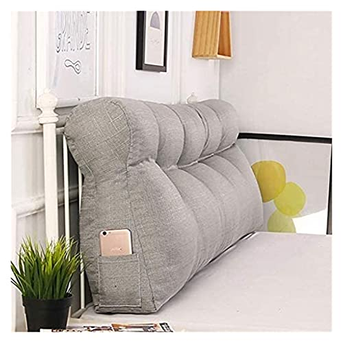 Cuña almohada arroja soporte triángulo almohada confort cabecero cojín respaldo largo almohada cama cuña cuña respaldo de lectura refuerzo cojines para sofá cama con cubierta extraíble y lavable Lectu