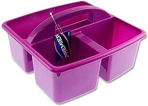 Premier Stationery Premier Universal Versatile Storage Basket, 3 Compartments, Purple