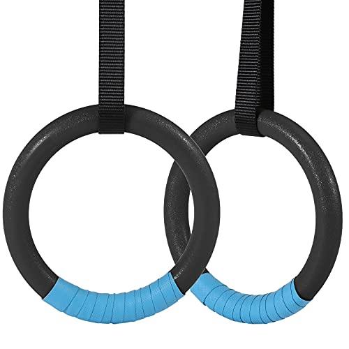KIKILIVE Gymnastikringe Turnringe mit 4.5m verstellbaren Buckles Straps, ABS rutschfest Trainingsringe, Maximale Belastung von 400 kg, Fitness Ringe für Crossfit Strength Training