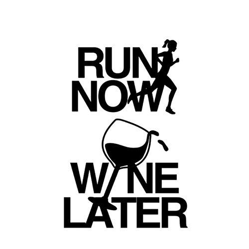 Empty 3 STK. Autoaufkleber 10,2 * 15,6 cm Lustiger Läufer JETZT Wein Wein SPÄTER Grafik Dekor Autoaufkleber Silhouette Zubehör Vinyl