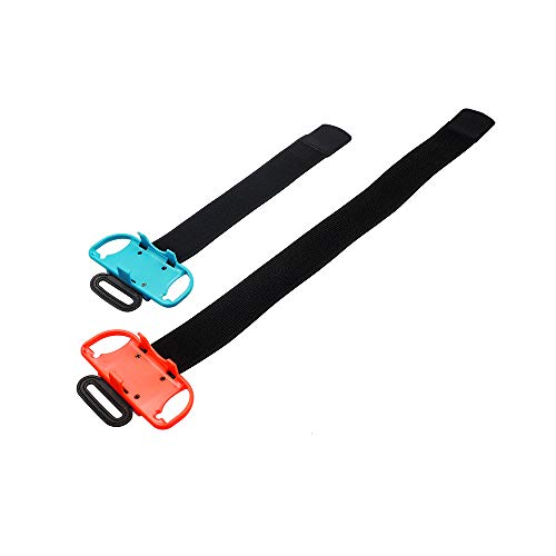 Feicuan Armband Gurte für Just Dance 2020 2019 2018 und Ring Fit Adventure Leg Fixing Band,Einstellbar elastisch Handgelenksband Sportbewegung Beinriemen für Nintendo Switch JoyCon