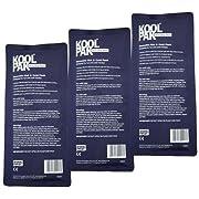Koolpak Deluxe Reusable Hot/Cold Gel Packs - x3 (Triple Pack)