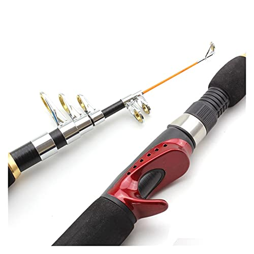 Práctico ¡Promoción!Nuevo 1.65M Telescópico Protable Carbono de Casting Caña de Pesca Caña de Pesca Hielo Mar Mar (Color : Spinning Rod, Length : 165cm)