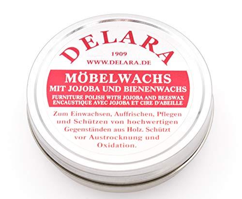 DELARA Cera para Muebles yoyoba y Cera de Abeja. Color: incoloro - Made in Germany