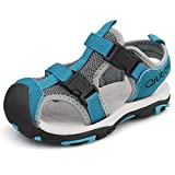 JIANKE Sandalias para niño Deportivas Zapatillas Trekking Zapatos de Playa Gris 27 EU
