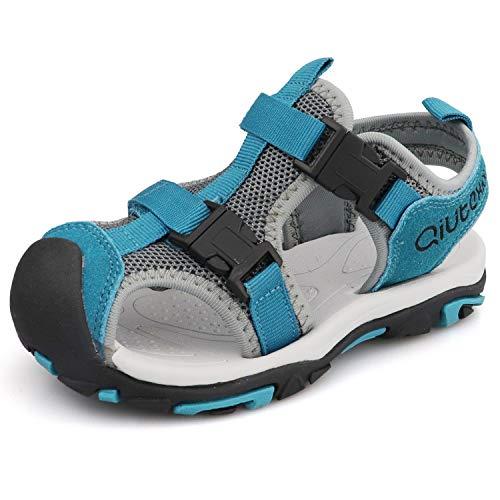JIANKE Sandalias para niño Deportivas Zapatillas Trekking Zapatos de Playa Gris 29 EU