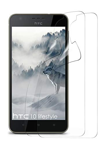 moex 2X HTC Desire 10 Lifestyle | Schutzfolie Klar Bildschirm Schutz [Crystal-Clear] Screen Protector Display Handy-Folie Dünn Bildschirmschutz-Folie für HTC Desire 10 Lifestyle Bildschirmfolie