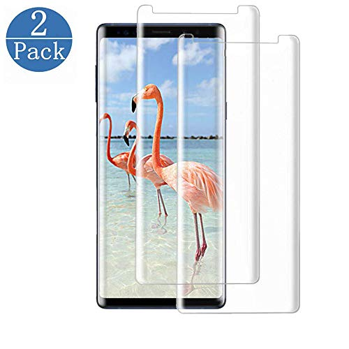 [2 Pack] Galaxy Note 9 Clear Screen Protector,Tempered Glass Screen Protector HD Clear Film Anti-Bubble 3D Touch Screen Protector Compatible with Samsung Galaxy Note 9