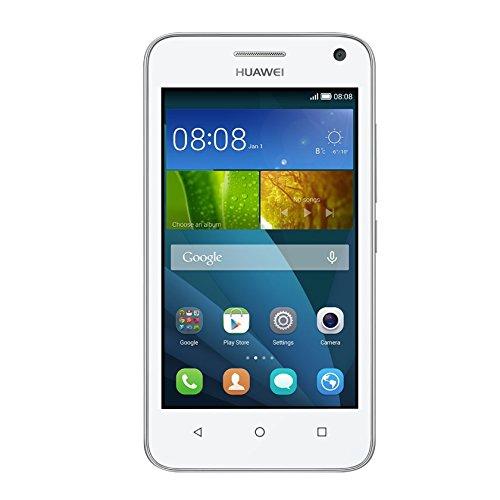 Huawei Y3 Smartphone (4 Zoll) IPS-Bildschirm, 1,3 GHz-Quad-Core-Prozessor, 5 Megapixel-Kamera, 4 GB interner Speicher, Dual-SIM, Android 4.4) weiß