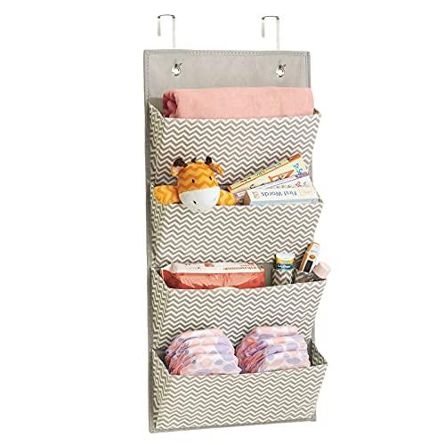 mDesign Over The Door Wardrobe Organiser - Hanging Storage for Stuffed...