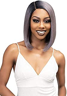 Janet Collection Essentials Premium Synthetic CHYNA Lace Front Wig (GUNMETAL SILVER)